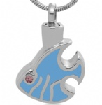 Stainless Steel Cremation Fish Pendant Memorial Jewelry