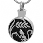 Stainless Steel Cremation Pendant Memorial Jewelry
