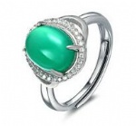 925 Sterling Silver Womens Aquamarine Ring