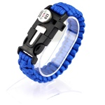 Nlyon braided camping & hiking paracord bracelet with SOS led light
