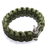 U shackle Paracord Survival Bracelet outdoor bracelet