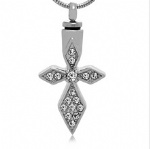 Cross Stainless Steel Cremation Pendant