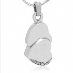 Stainless Steel Cremation Heart Pendant