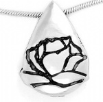 Leaf Stainless Steel Cremation Pendant