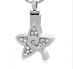 Star Stainless Steel Cremation Pendant